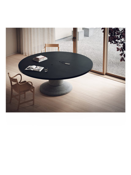 Colossus Black Laminate Table Top Round