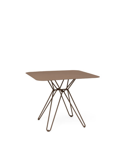 Tio Dining Table 85×85 Pale Brown