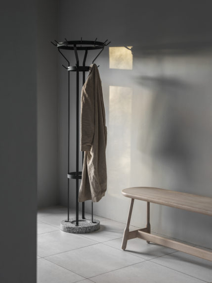 A Marcel Coat Stand Floor Standing Lifestyle