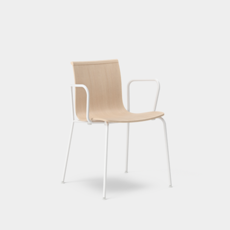 Serif Chair - Tube Legs With Armrests