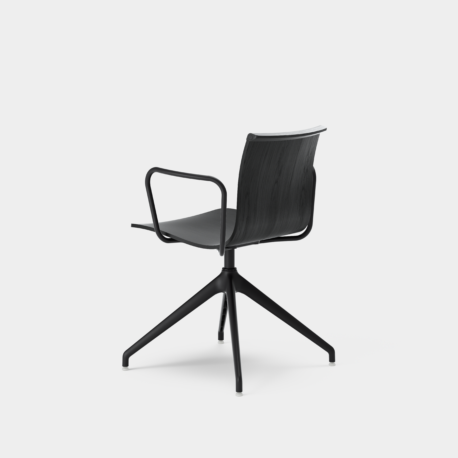 Serif Chair - 4 Star Base With Armrests