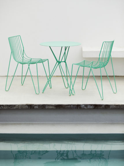 Oilcloth Green – Tio Chair & Tio Coffee Table