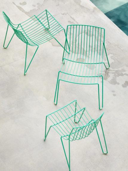 Oilcloth Green – Tio Easy Chair