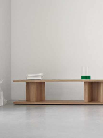 Bit Side Table – Natural Oak